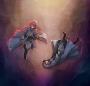 Awakening Robin Falling Art