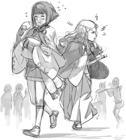 File:Sketch of Sakura and Hana.png