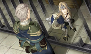 Fernand talks to Mathilda in prison