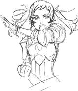 Cynthia Concept Art Sketch
