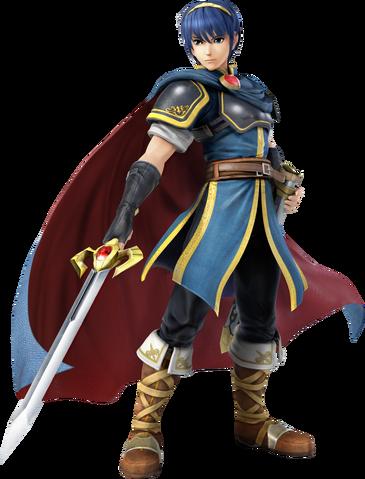 File:Marth (Super Smash Bros. for 3DS - WiiU Artwork).png