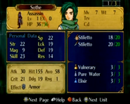 Sothe FE9 Unused Assassin Stat