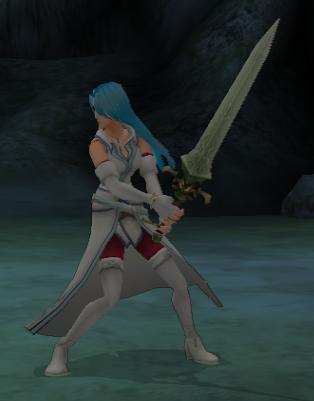 File:FE10 Swordmaster (Lucia) -Pre-haircut-.png