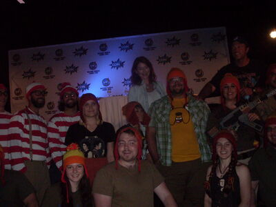 Jewel Staite & Adam Baldwin with Jayne Hat and Waldo Group 3