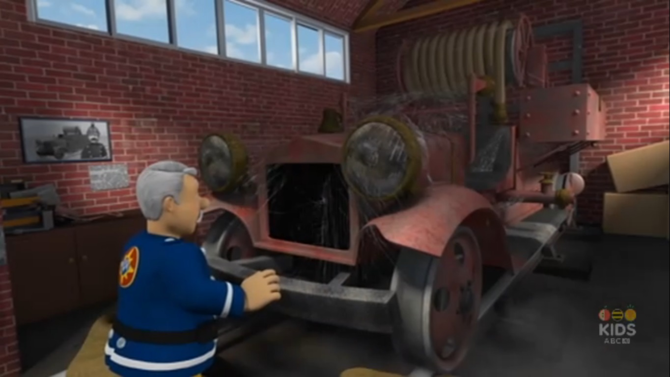 Image  Station Officer Steele discovers his old fire engine