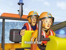 Mandy at sea