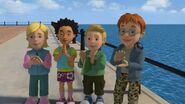 Norman, James, Sarah and Mandy in Series 9