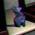 Closeup Origami Cat Arcade Area