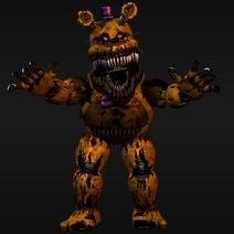 Nightmare fredbear render number 2