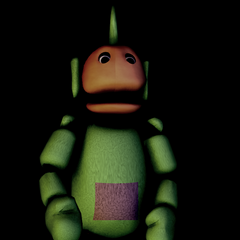 The thumbnail for the low poly FNaTL 2 Dipsy model download, on Critolious's DeviantArt.