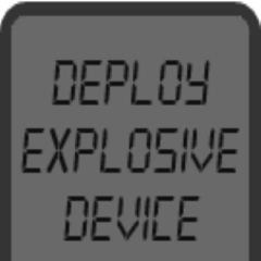 The deploy explosive device button.