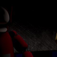 Po 2.0 and Laa-Laa staring at the camera in the Tubby Stage with no eyes, from the Nightmare Night.