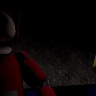 Po 2.0 and Laa-Laa staring at the camera from the Tubby Stage with no eyes, from the Nightmare Night.