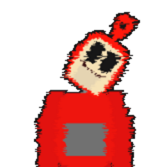 The sprite of Po that randomly appears after getting the error from touching the custard machine.