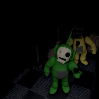 Beta Laa-Laa and Dipsy in the Repair Hall.