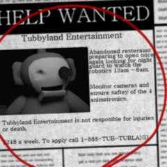 The newspaper for the demo when loading a new game.