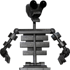 Full body image of the endoskeleton for the upgraded tubbybots in the game, from Critolious's DeviantArt.
