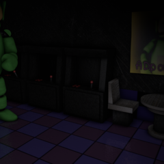 Dipsy in Dipsy's Arcade, with no eyes in the Nightmare Night.