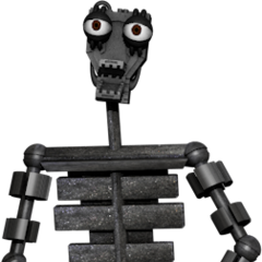Full body image of the endoskeleton for the prototype tubbybots in the game, from Critolious's DeviantArt.