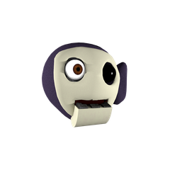 Tinky Winky emoticon from the Discord chat.