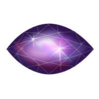 Mystic quartz gem