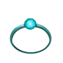 Angelic aquamarine ring
