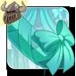 Pretty Aqua Tail Bow