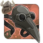 Gray Plague Doctor Mask