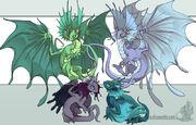 Fae dragons by neondragon