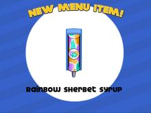 Papa's Freezeria - Rainbow Sherbet Syrup