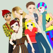 Johnny, Gremmie,James, Skyler, Sue and Xolo