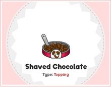 Shaved chocolate
