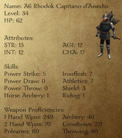 A6 Rhodok Capitano d'Assedio