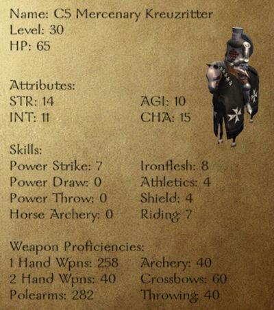 C5 Mercenary Kreuzritter