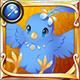 Kaika tori blue icon