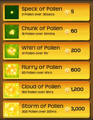 Pollen Flower Menu§Stage02