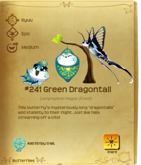Green Dragontail§Flutterpedia
