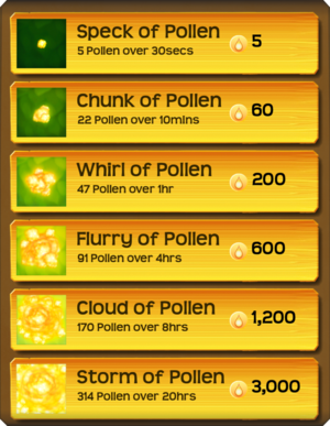 Pollen Flower Menu§Stage03