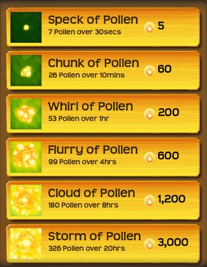 Pollen Flower Menu§Stage04