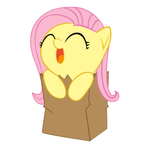File:Chibifluttershy in a bag FANMADE.png