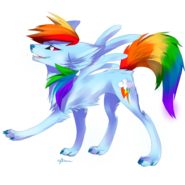 Wolf rainbow dash by affanita-d55y3bp