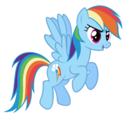 Rainbow Dash in flight