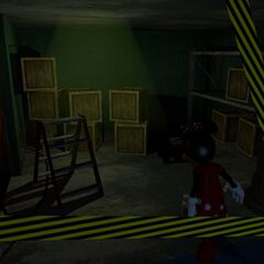 Minnie in Storage Area