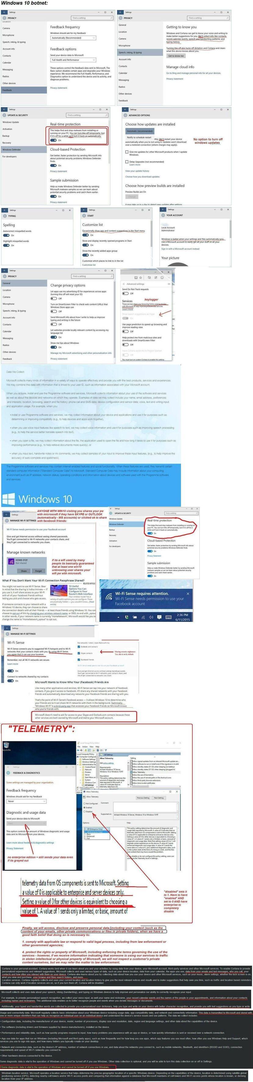 Windows 10 BotNet