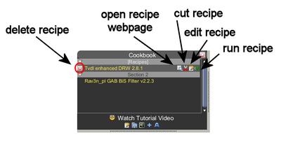 Cook recipe options