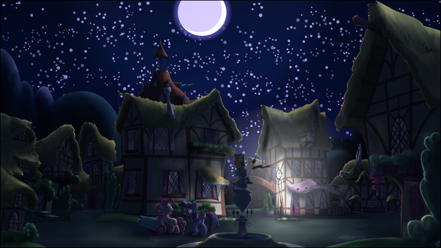 File:A ponyville night by stinkehund-d4joudw.png