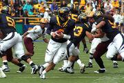 Nate Longshore prepares to pass at ASU at Cal 2008-10 04