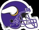 Minnesota Vikings helmet rightface
