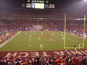 Second half kickoff, 2010 ACC Championship Game