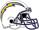 San Diego Chargers helmet rightface